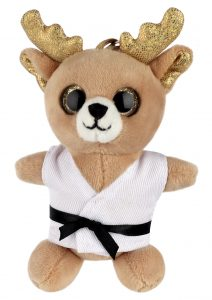 Keyring soft toy, REINDEER (Big Eyes)