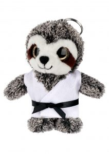 Keyring soft toy, SLOTH (Big Eyes)