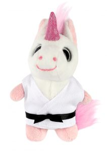 Keyring soft toy, UNICORN (Big Eyes)