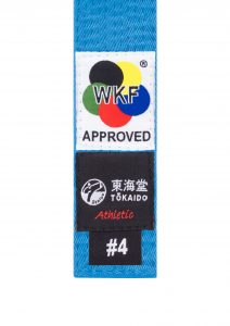 Tokaido, WKF APPROVED, Karate Belt, Blue